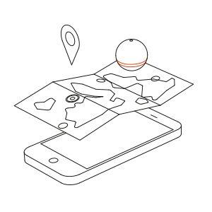 4.リアルタイムでマップを見ながら移動